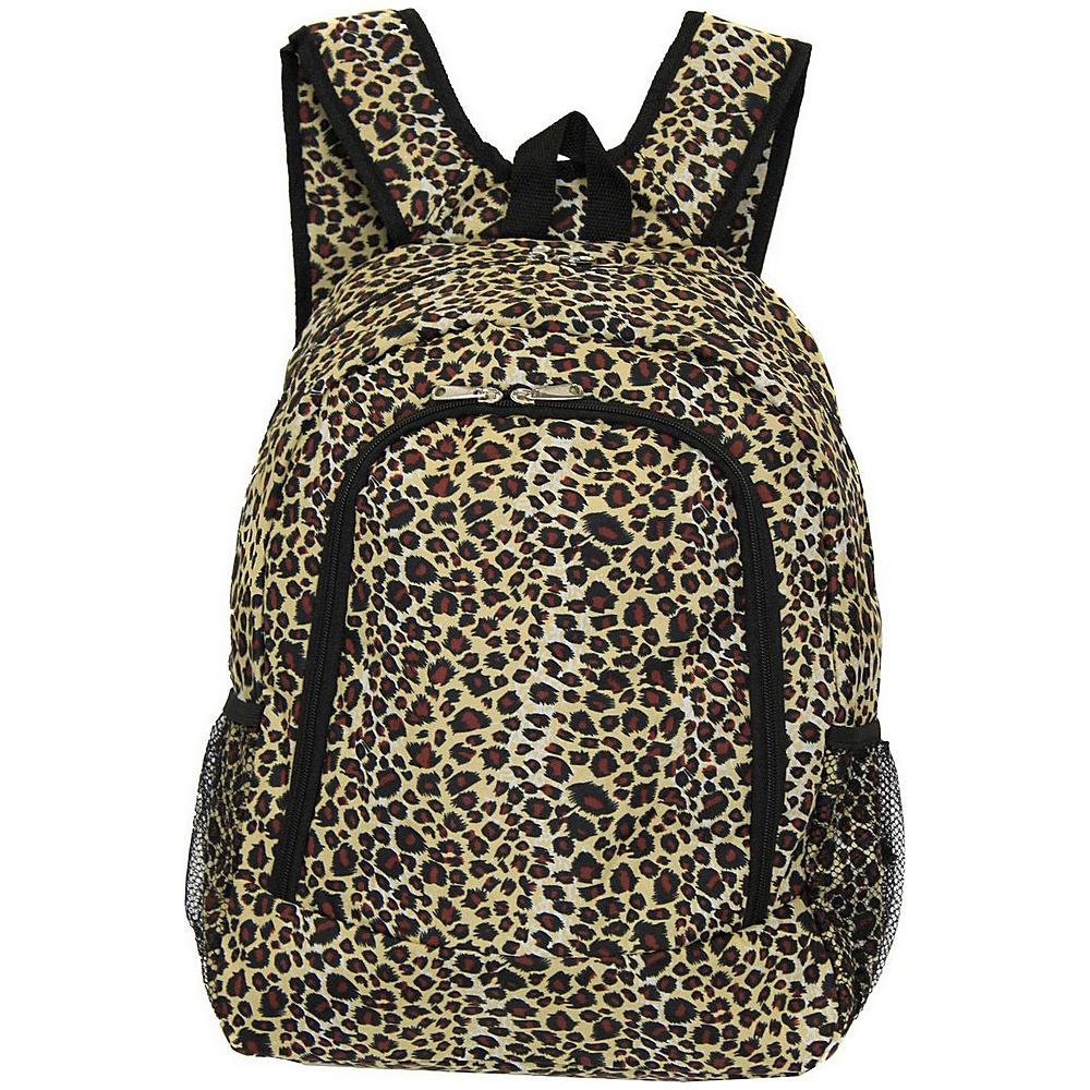 World Traveler Leopard 16 Multipurpose Backpack Leopard - World Traveler Everyday Backpacks - Backpacks, Everyday Backpacks