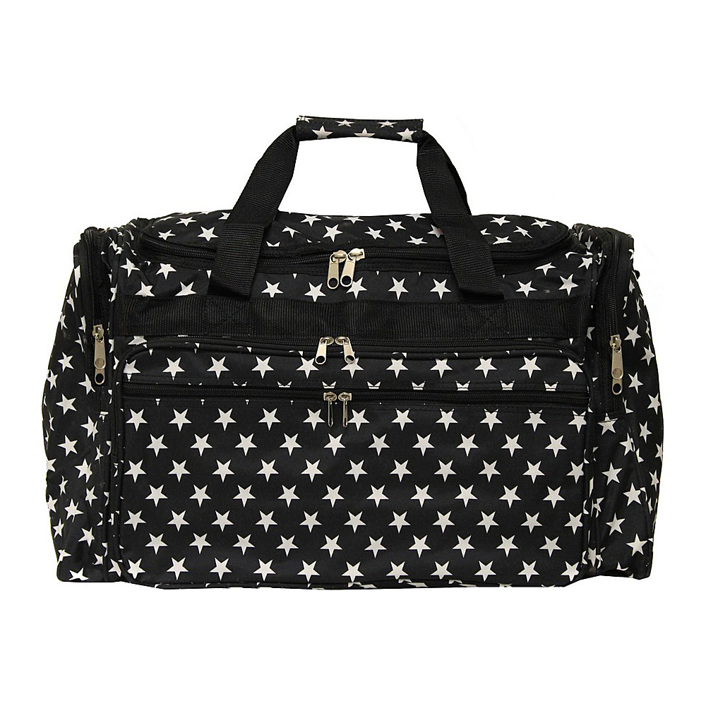 World Traveler Stars 19 Shoulder Duffle Bag Black White Stars - World Traveler Rolling Duffels - Luggage, Rolling Duffels