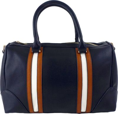 nu G Stripes Duffle Black - nu G Manmade Handbags