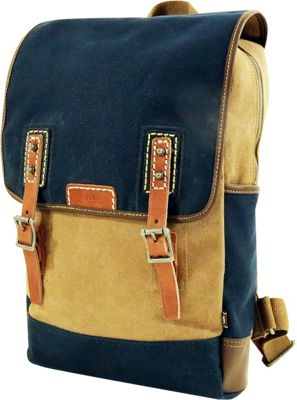TSD Mountain Wood Backpack Navy - TSD Fabric Handbags