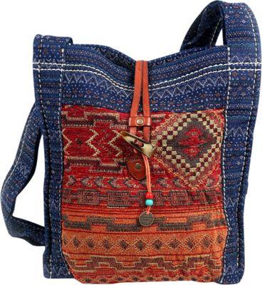 TSD Tribal Secret shoulder bag Orange/Navy - TSD Fabric Handbags