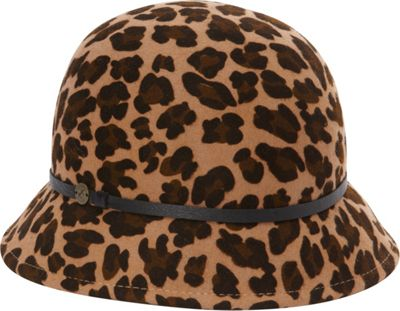 Karen Kane Hats Leopard Print Felt Cloche Leopard - Karen Kane Hats Hats/Gloves/Scarves