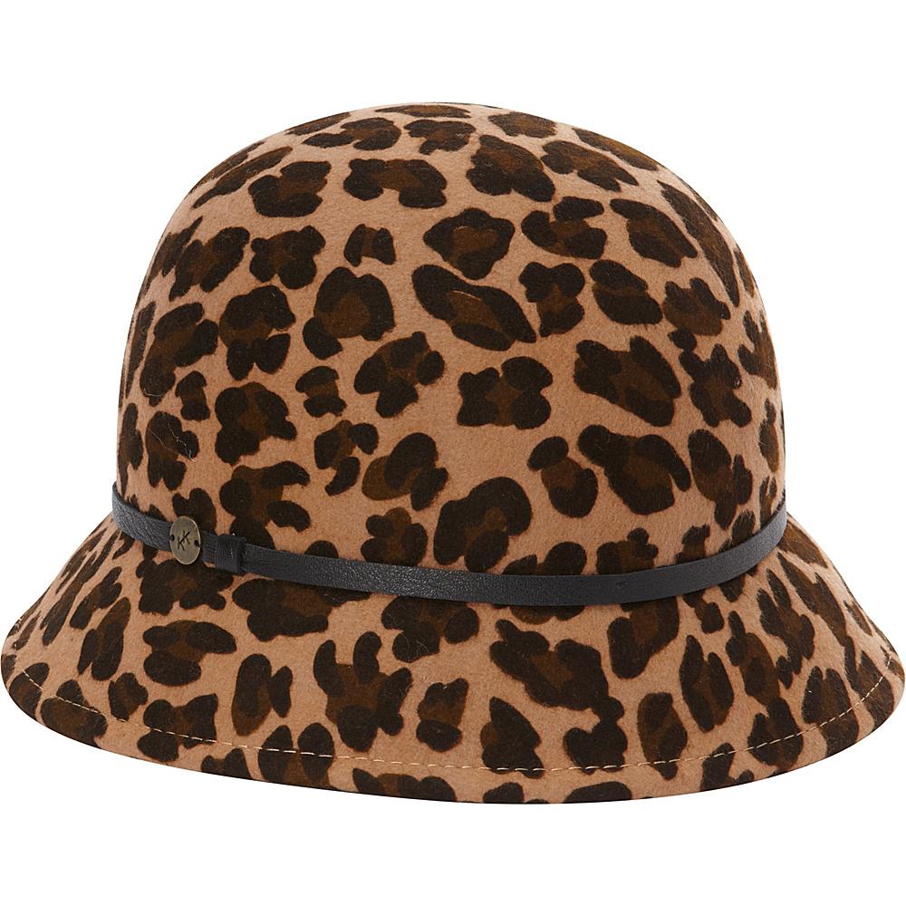 Karen Kane Hats Leopard Print Felt Cloche Leopard Karen Kane Hats Hats Gloves Scarves