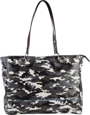 Urban Junket Fun Nancy Tote Grey Camouflage - Urban Junket Fabric Handbags