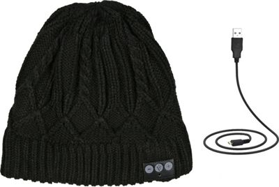 Image of 1Voice Bluetooth Cable Knit Beanie Black - 1Voice Electronics