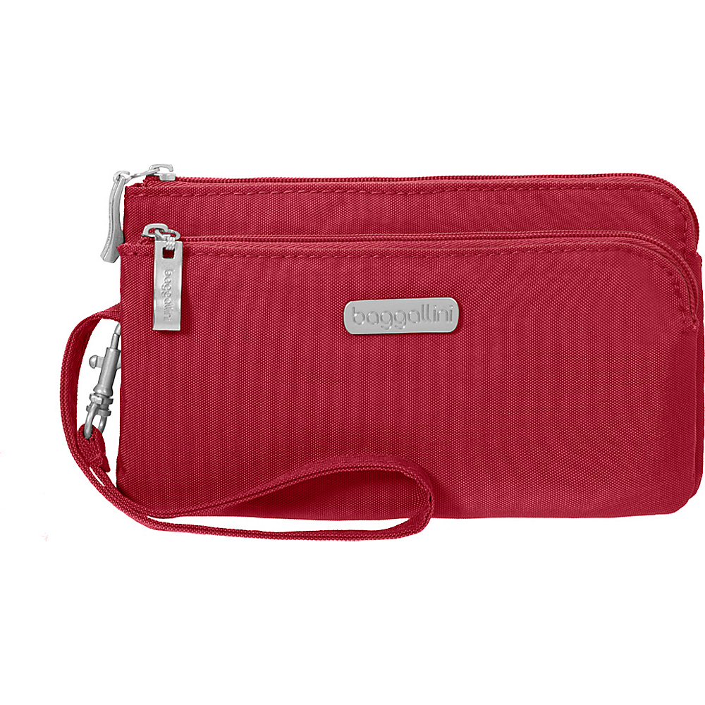baggallini RFID Double Zip Wristlet Apple - baggallini Fabric Handbags - Handbags, Fabric Handbags