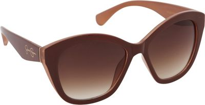Jessica Simpson Sunwear Cat Eye Sunglasses Brown Tan - Jessica Simpson Sunwear Sunglasses