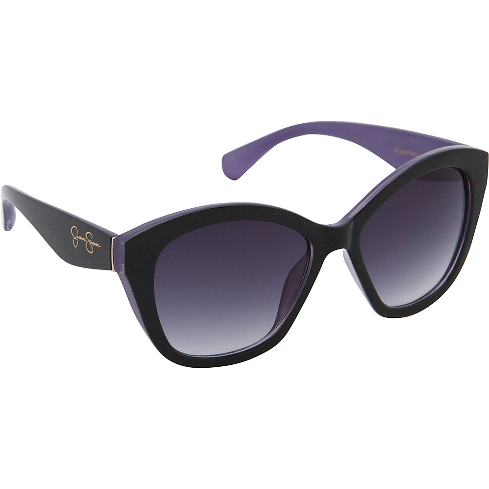Jessica Simpson Sunwear Cat Eye Sunglasses Black Purple - Jessica Simpson Sunwear Sunglasses
