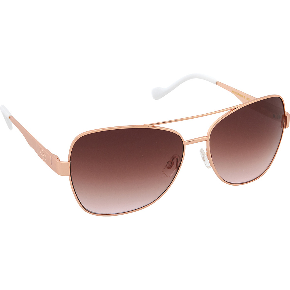 Jessica Simpson Sunwear Aviator Sunglasses Matte Rose Gold - Jessica Simpson Sunwear Sunglasses
