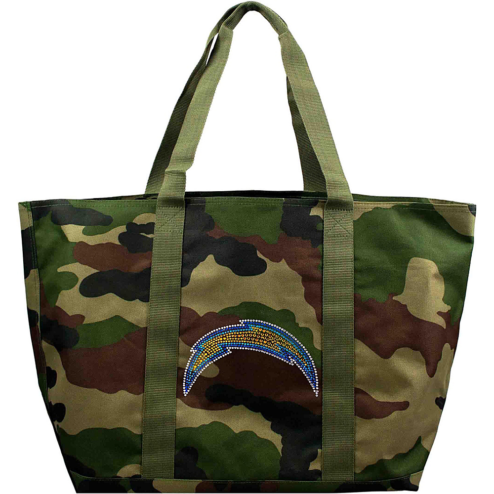 Littlearth Camo Tote - NFL Teams San Diego Chargers - Littlearth Fabric Handbags - Handbags, Fabric Handbags