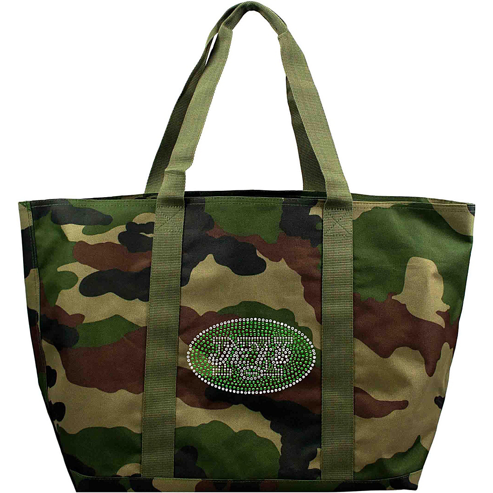 Littlearth Camo Tote - NFL Teams New York Jets - Littlearth Fabric Handbags - Handbags, Fabric Handbags
