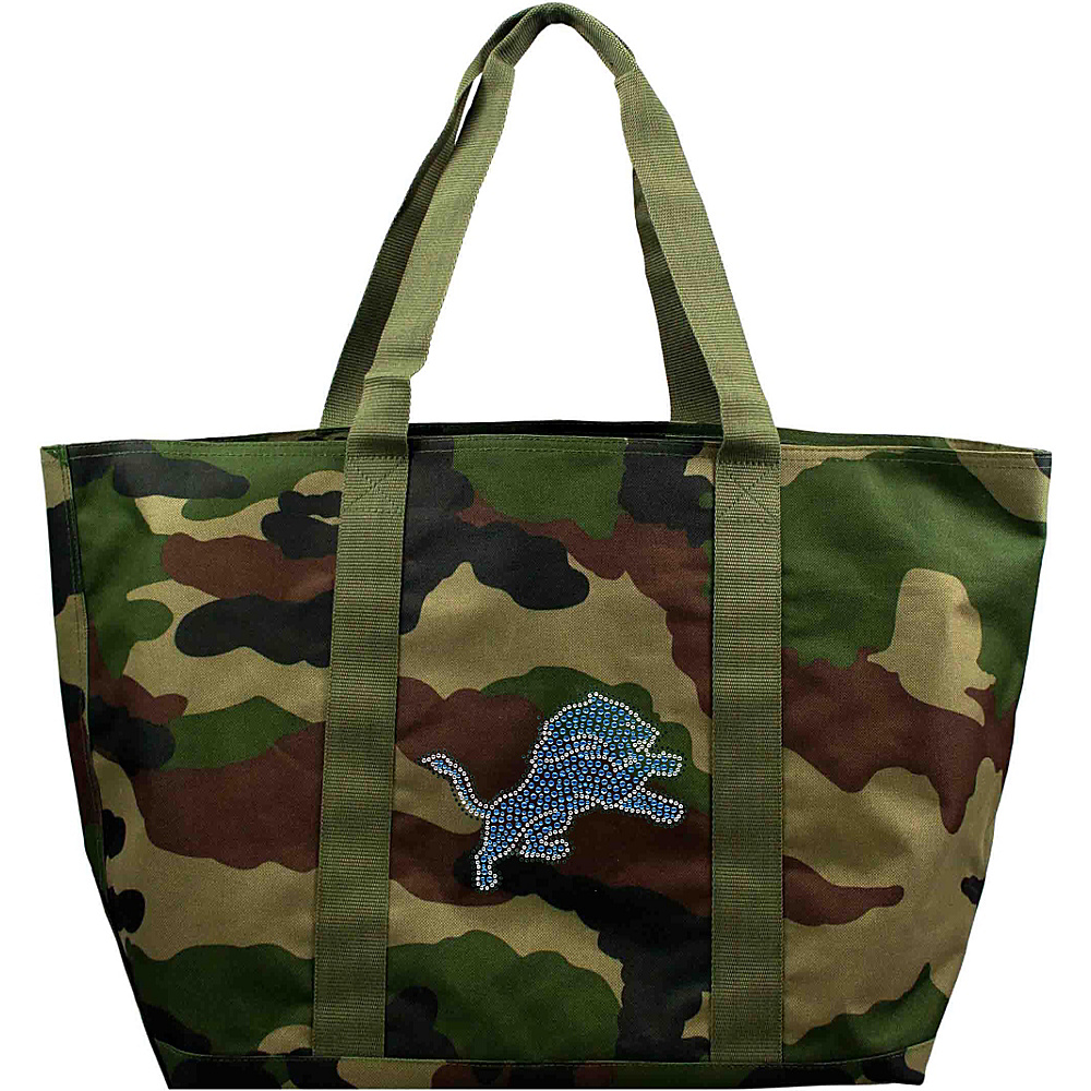 Littlearth Camo Tote - NFL Teams Detroit Lions - Littlearth Fabric Handbags - Handbags, Fabric Handbags