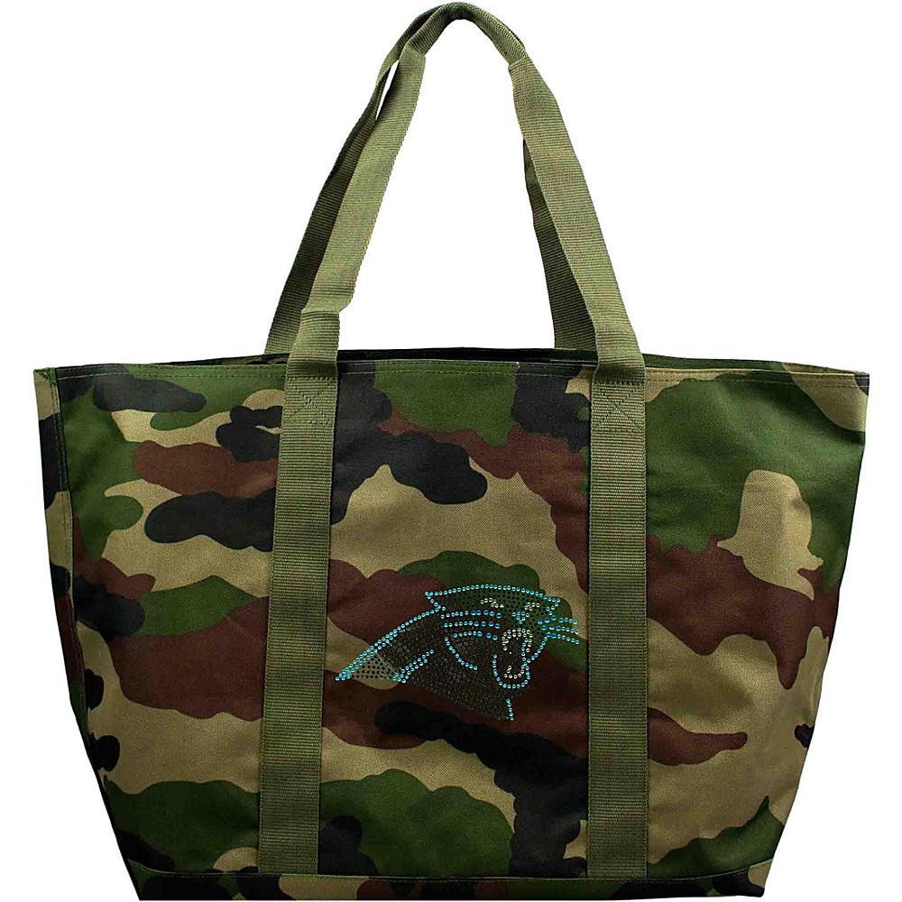 Littlearth Camo Tote - NFL Teams Carolina Panthers - Littlearth Fabric Handbags - Handbags, Fabric Handbags