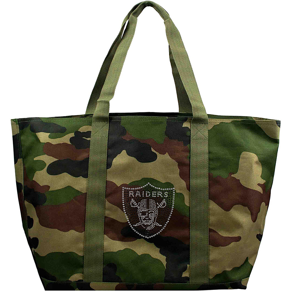 Littlearth Camo Tote - NFL Teams Oakland Raiders - Littlearth Fabric Handbags - Handbags, Fabric Handbags
