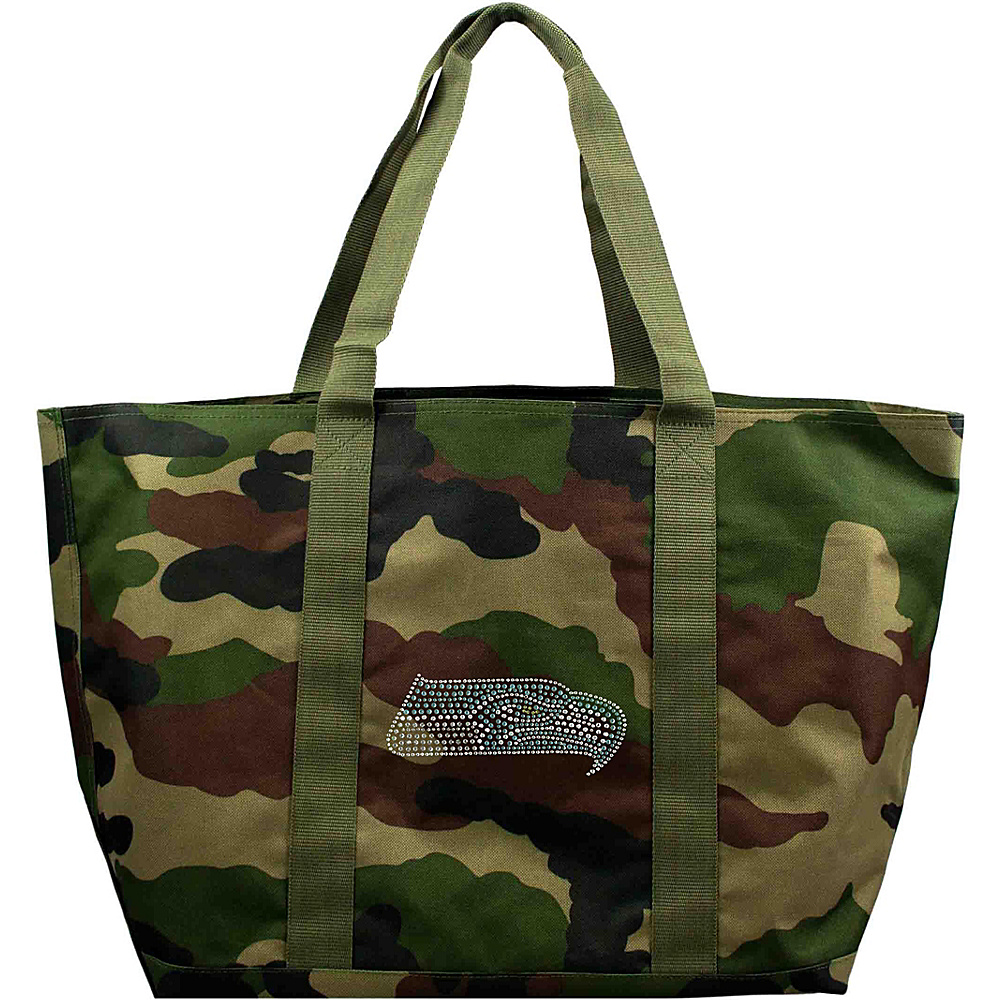 Littlearth Camo Tote - NFL Teams Seattle Seahawks - Littlearth Fabric Handbags - Handbags, Fabric Handbags