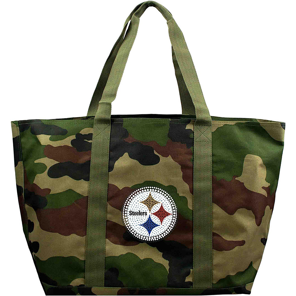Littlearth Camo Tote - NFL Teams Pittsburgh Steelers - Littlearth Fabric Handbags - Handbags, Fabric Handbags