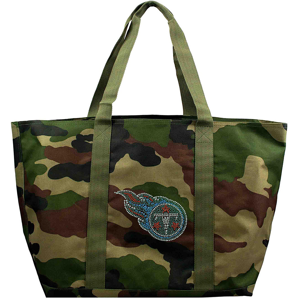 Littlearth Camo Tote - NFL Teams Tennessee Titans - Littlearth Fabric Handbags - Handbags, Fabric Handbags