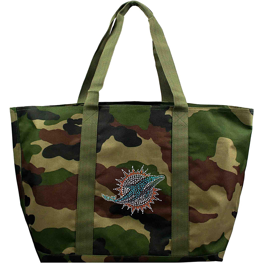 Littlearth Camo Tote - NFL Teams Miami Dolphins - Littlearth Fabric Handbags - Handbags, Fabric Handbags