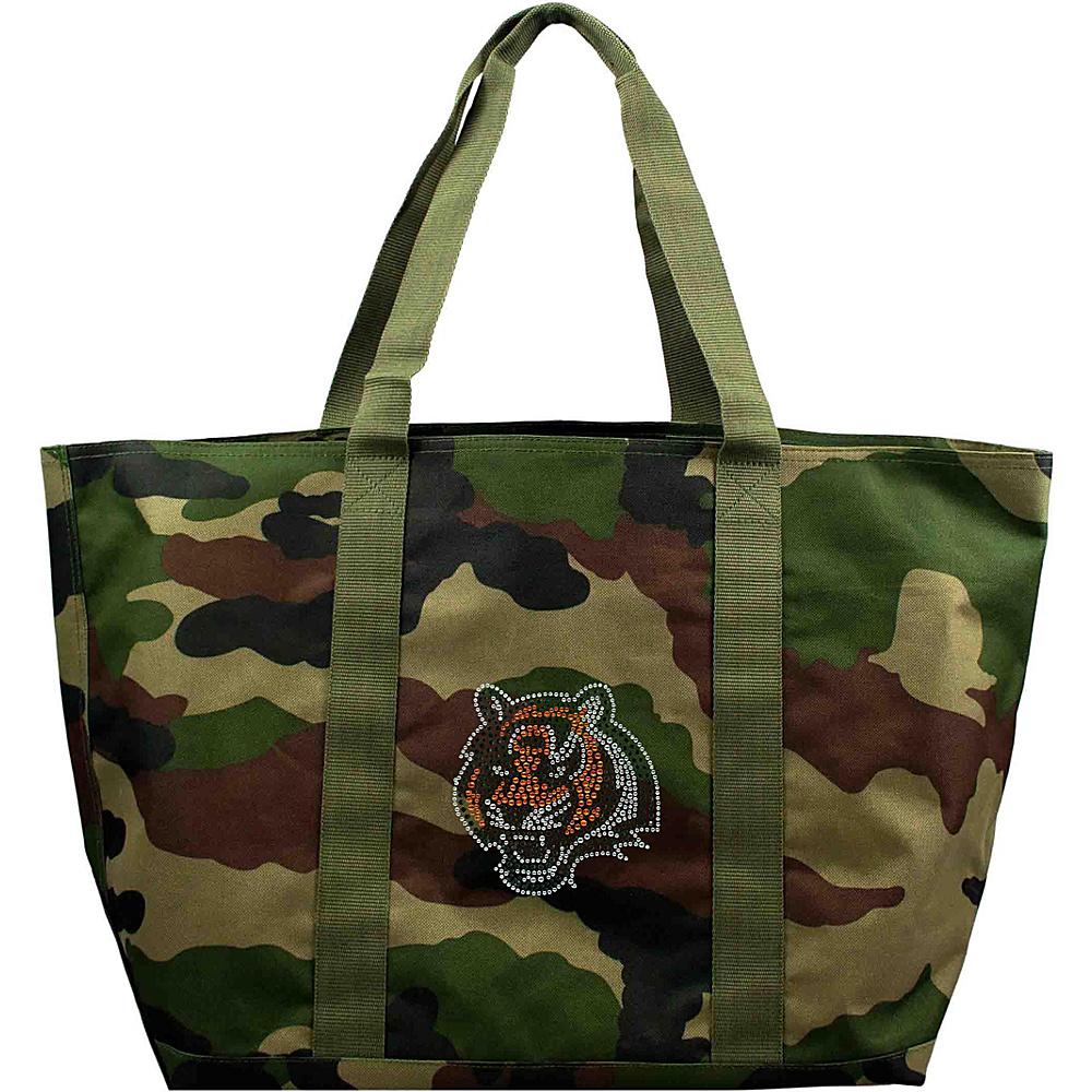 Littlearth Camo Tote - NFL Teams Cincinnati Bengals - Littlearth Fabric Handbags - Handbags, Fabric Handbags