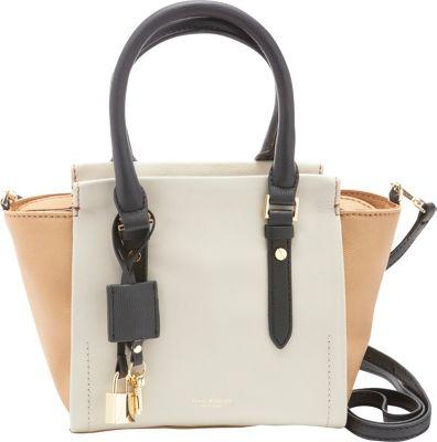 Isaac Mizrahi Imogen Crossbody Camel/Stone/Black - Isaac Mizrahi Leather Handbags