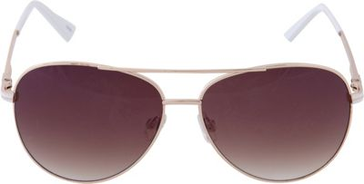 Laundry by Shelli Segal Sunglasses Aviator Sunglasses Gold/White - Laundry by Shelli Segal Sunglasses Sunglasses