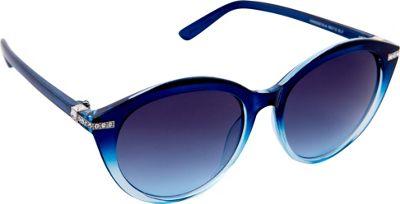 Nanette Nanette Lepore Sunglasses Round with Stone Sunglasses Blue Fade - Nanette Nanette Lepore Sunglasses Sunglasses