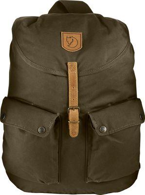 Fjallraven Greenland Backpack Dark Olive - Fjallraven School & Day Hiking Backpacks
