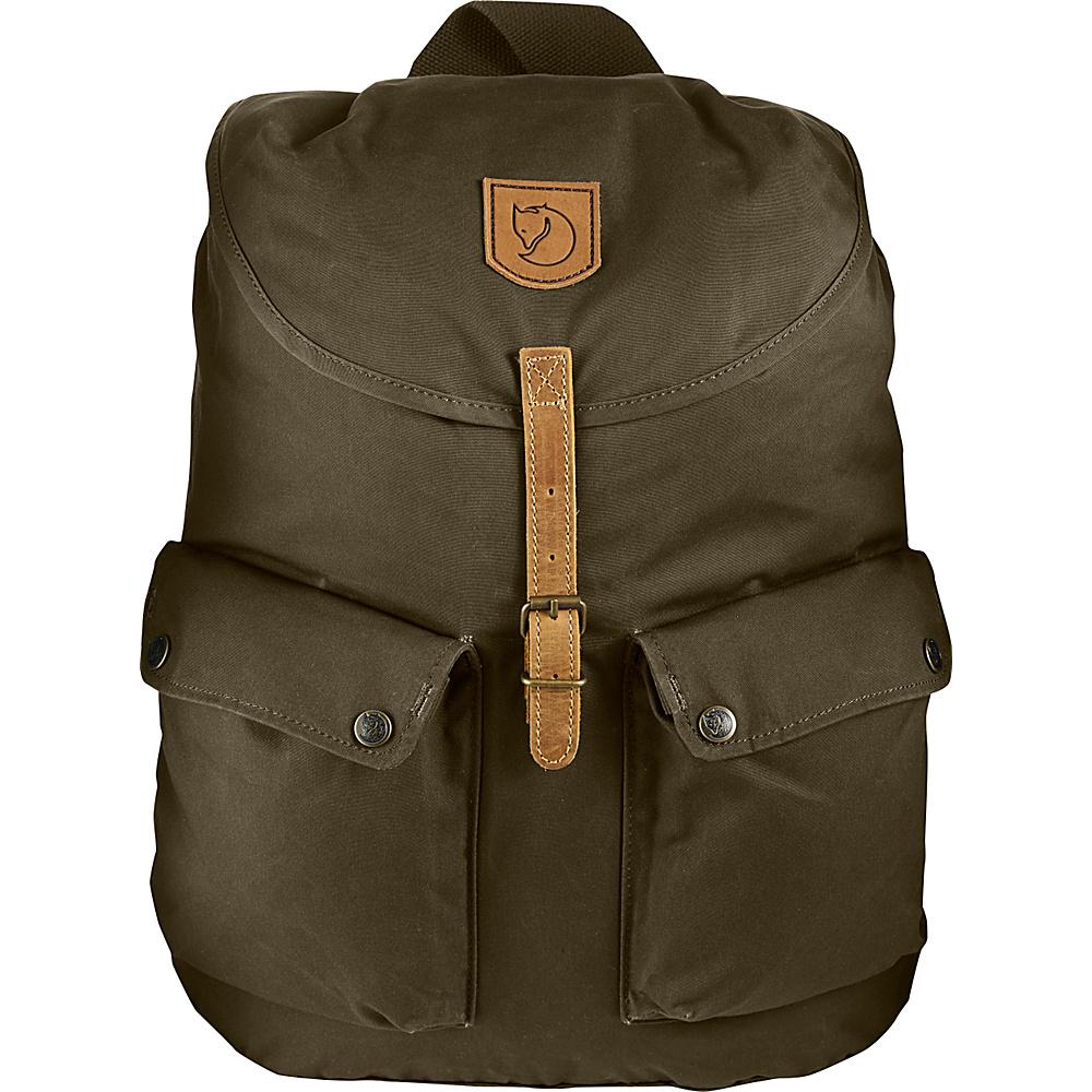 Fjallraven Greenland Backpack Dark Olive - Fjallraven School & Day Hiking Backpacks - Backpacks, School & Day Hiking Backpacks