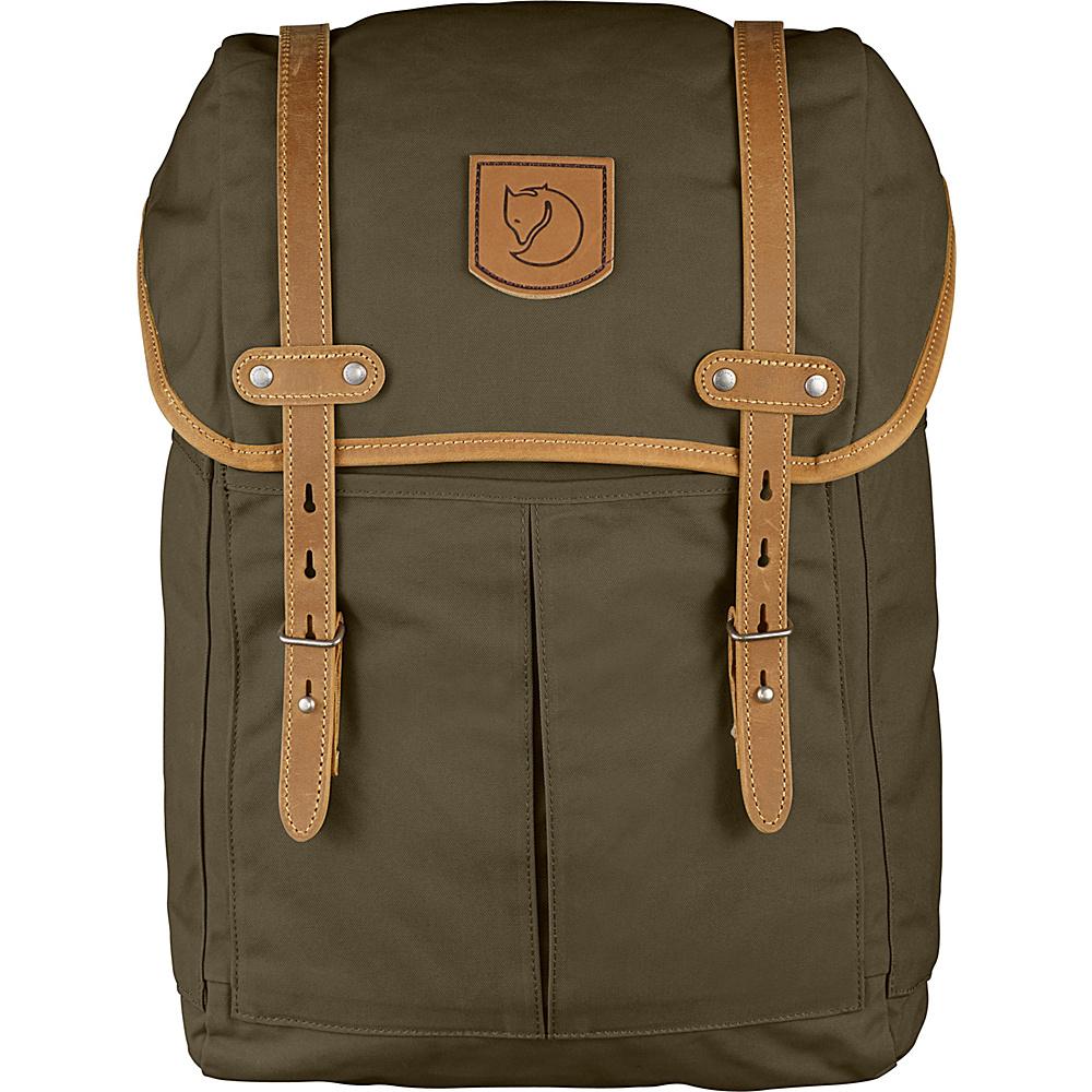 Fjallraven Rucksack No.21 Medium Dark Olive - Fjallraven Business & Laptop Backpacks - Backpacks, Business & Laptop Backpacks