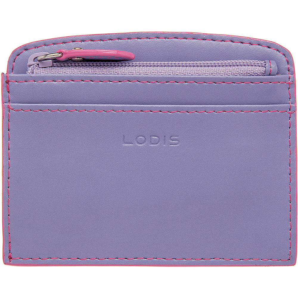Lodis Audrey Laci Card Case Lilac/Rose - Lodis Womens Wallets - Women's SLG, Women's Wallets