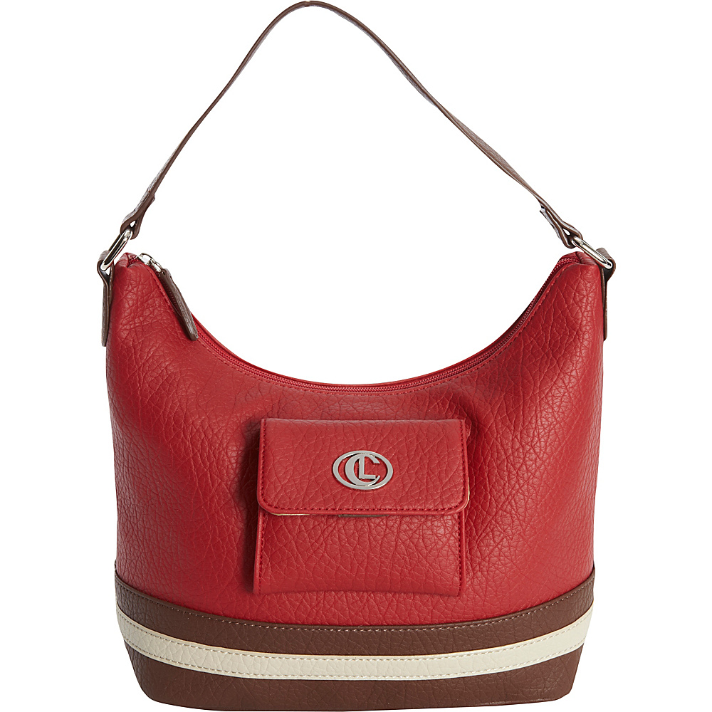 Aurielle Carryland Card Case Hobo Red Aurielle Carryland Manmade Handbags