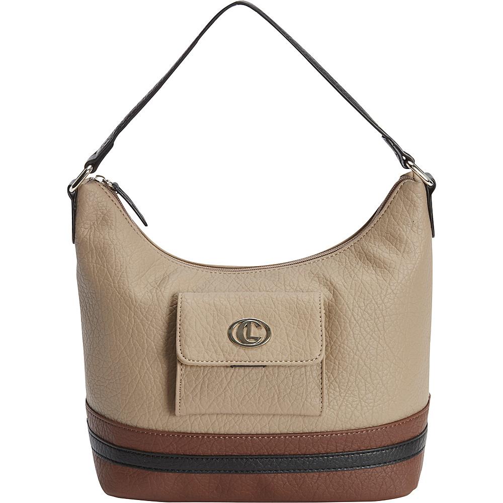 Aurielle Carryland Card Case Hobo Cappuccino Aurielle Carryland Manmade Handbags