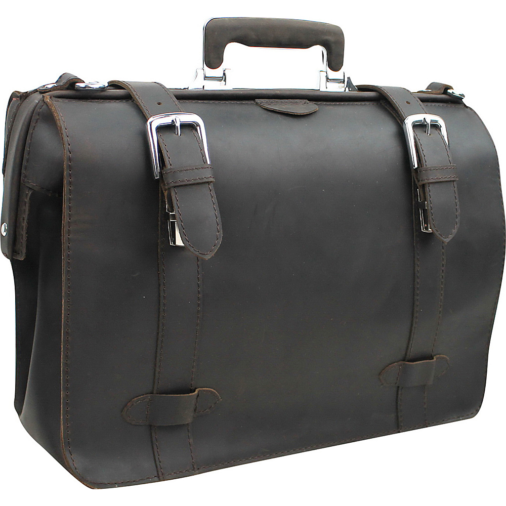 Vagabond Traveler Classic Full Grain Leather Business Pro Case Dark Brown - Vagabond Traveler Non-Wheeled Business Cases - Work Bags & Briefcases, Non-Wheeled Business Cases