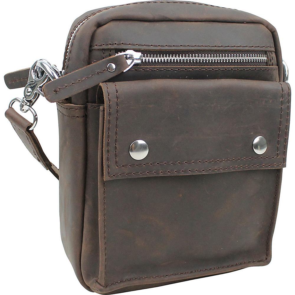 Vagabond Traveler Leather Crossbody Waist Bag Dark Brown - Vagabond Traveler Leather Handbags - Handbags, Leather Handbags