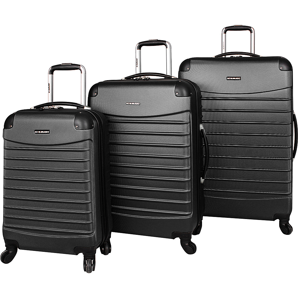 CIAO! Voyager 3-Piece Spinner Set Black - CIAO! Hardside Luggage