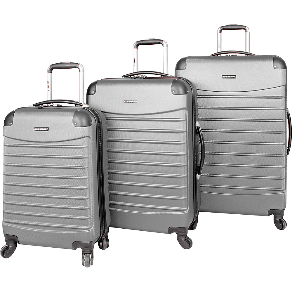 CIAO! Voyager 3-Piece Spinner Set Silver - CIAO! Hardside Luggage