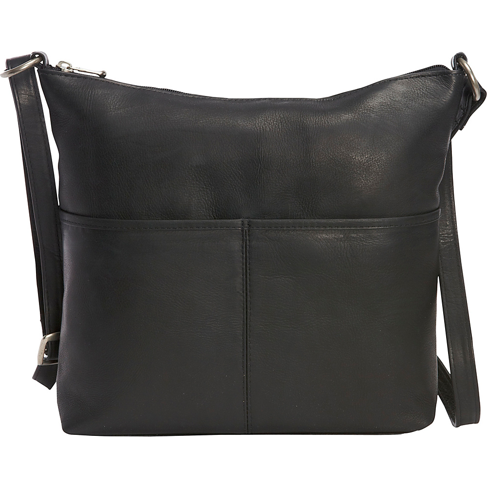 Le Donne Leather Carefree Top Zip Tote Black - Le Donne Leather Leather Handbags - Handbags, Leather Handbags