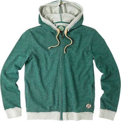 Life is good Mens Terry Zip Hoodie Hunter Green - Extra Large - Life is good Men's Apparel