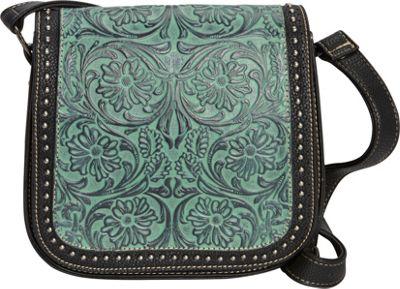 Montana West Tooled  Crossbody Turquoise - Montana West Manmade Handbags