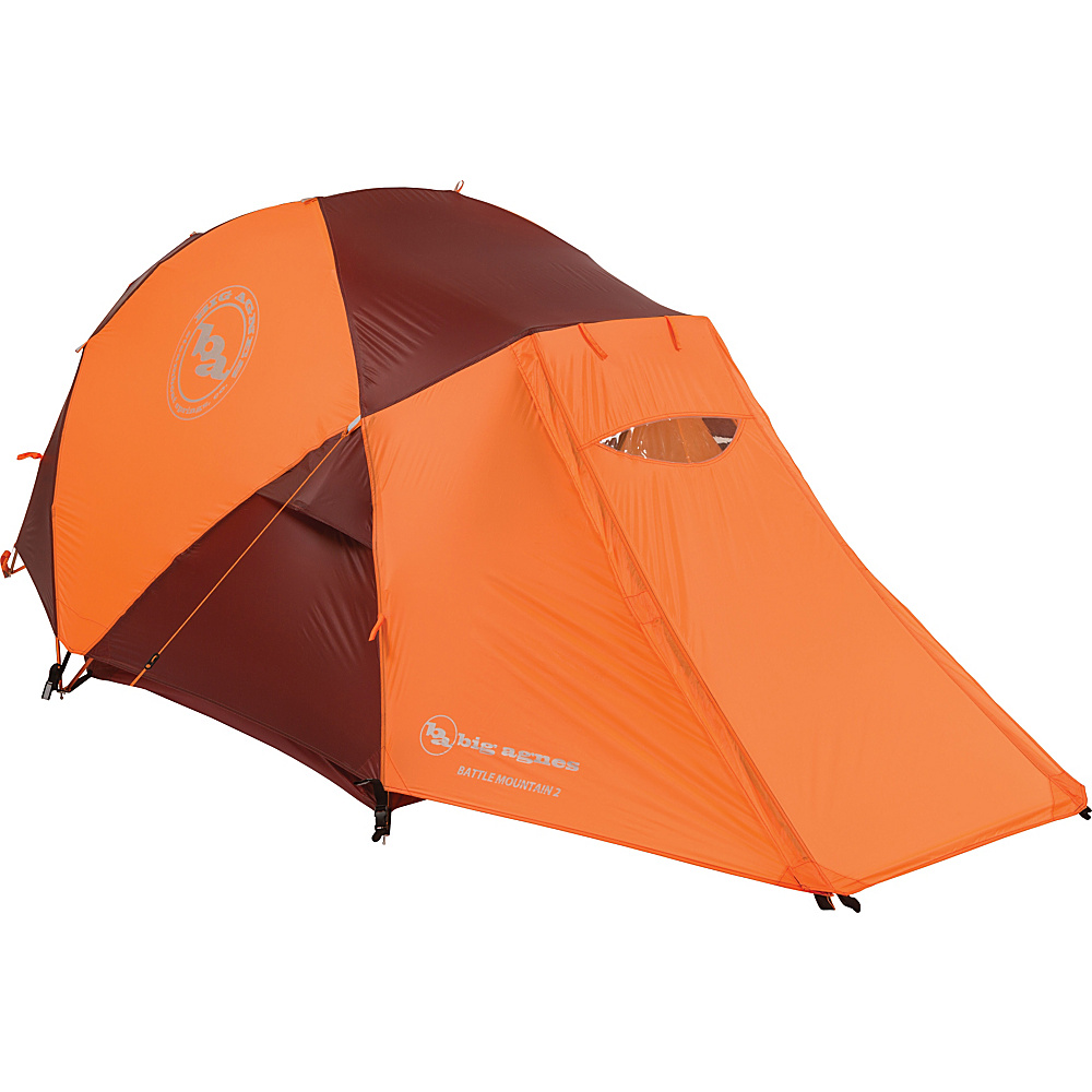 Big Agnes Battle Mountain 2 Person Tent Orange Red Big Agnes Outdoor Accessories