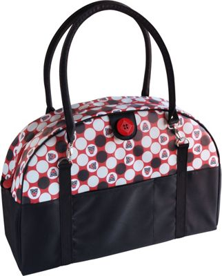 Image of 2 Red Hens Coop Carry-All Diaper Bag Owl Dots - 2 Red Hens Diaper Bags