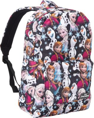 Loungefly Loungefly Frozen Elsa, Anna, Olaf All Over Print Backpack Navy Blue/Multi - Loungefly Everyday Backpacks