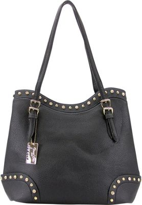 Chasse Wells Ruby Shoulder Tote Black - Chasse Wells Manmade Handbags