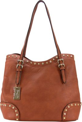 Chasse Wells Ruby Shoulder Tote Brown - Chasse Wells Manmade Handbags