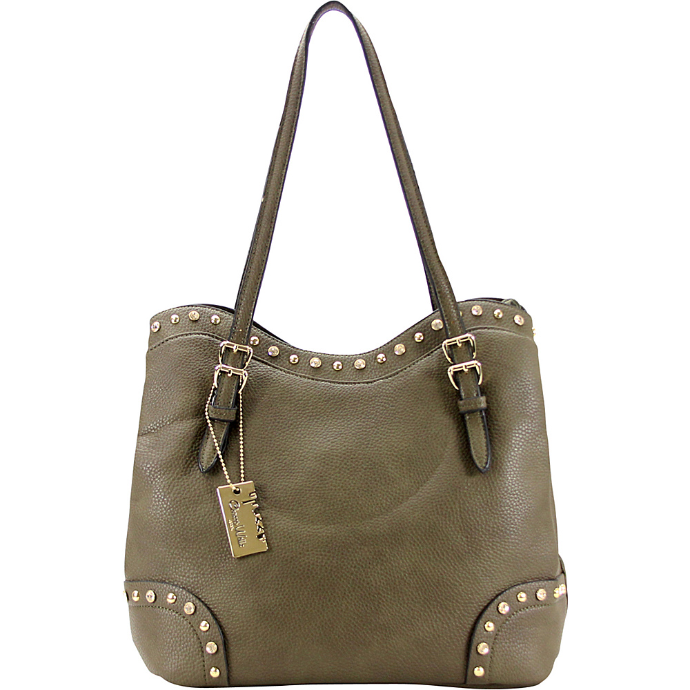 Chasse Wells Ruby Shoulder Tote Olive Green Chasse Wells Manmade Handbags