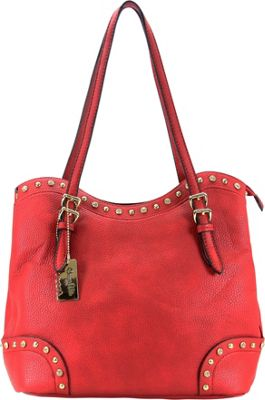 Chasse Wells Ruby Shoulder Tote Red - Chasse Wells Manmade Handbags