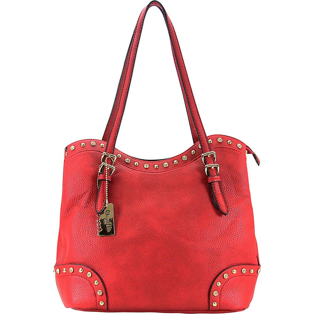 Chasse Wells Ruby Shoulder Tote Red Chasse Wells Manmade Handbags