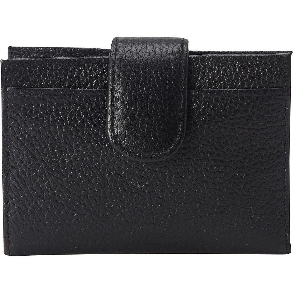 Buxton Hudson Pik-Me-Up Tab Card Case Black - Buxton Womens Wallets - Women's SLG, Women's Wallets