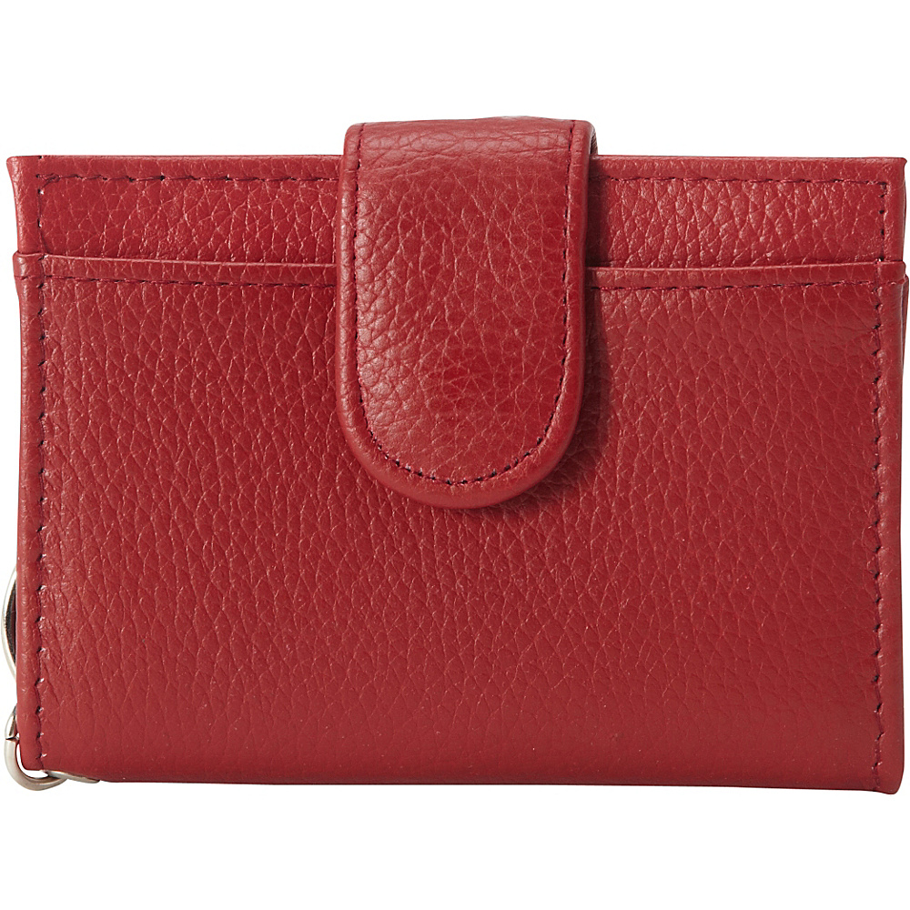 Buxton Hudson Pik-Me-Up Tab Card Case Dark Red - Buxton Womens Wallets - Women's SLG, Women's Wallets