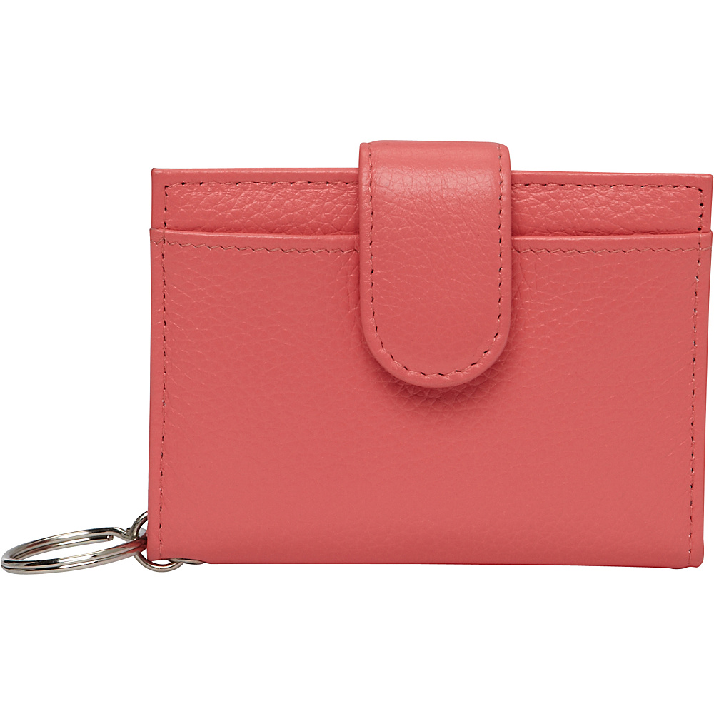Buxton Hudson Pik-Me-Up Tab Card Case Sugar Coral - Buxton Womens Wallets - Women's SLG, Women's Wallets
